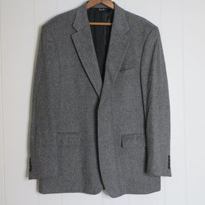 Mens Gray Bill Blass Camel Hair Blazer Sz 43